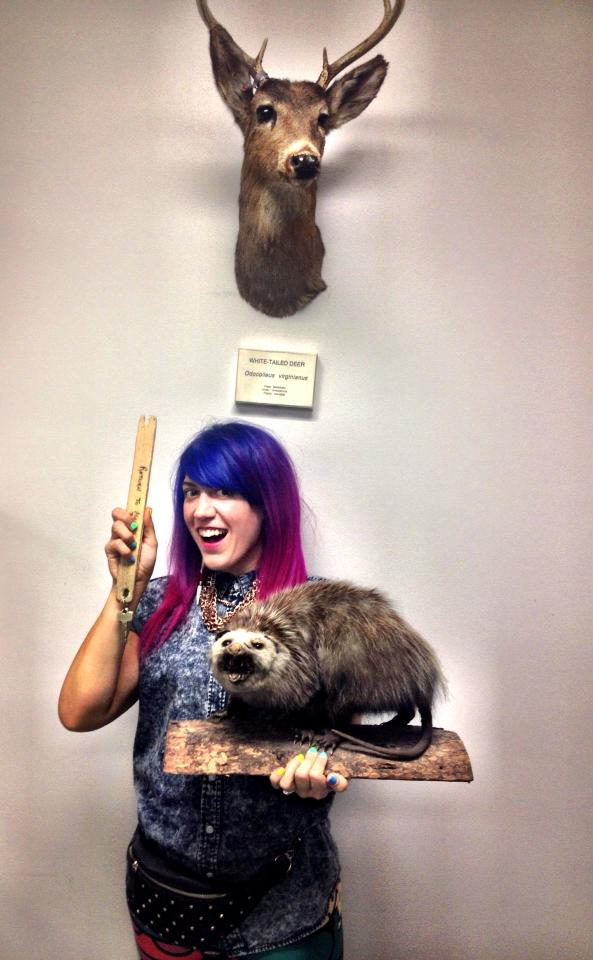 Morgan Mavis, Torotno Taxidermy, pink hair, Taxidermy, Bear