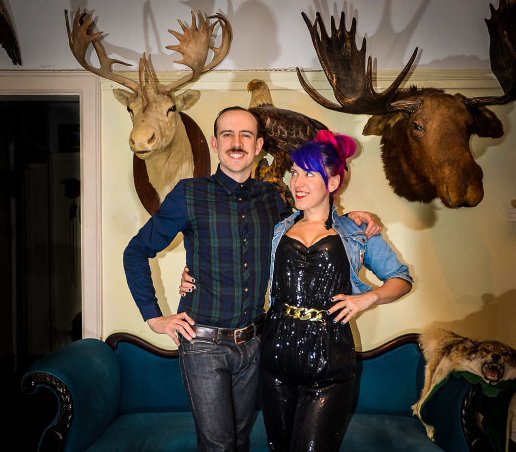 Morgan Mavis and Christopher Bennell in the Contemporary Zoological Conservatory, Pink Hair, Toronto Taxidermy